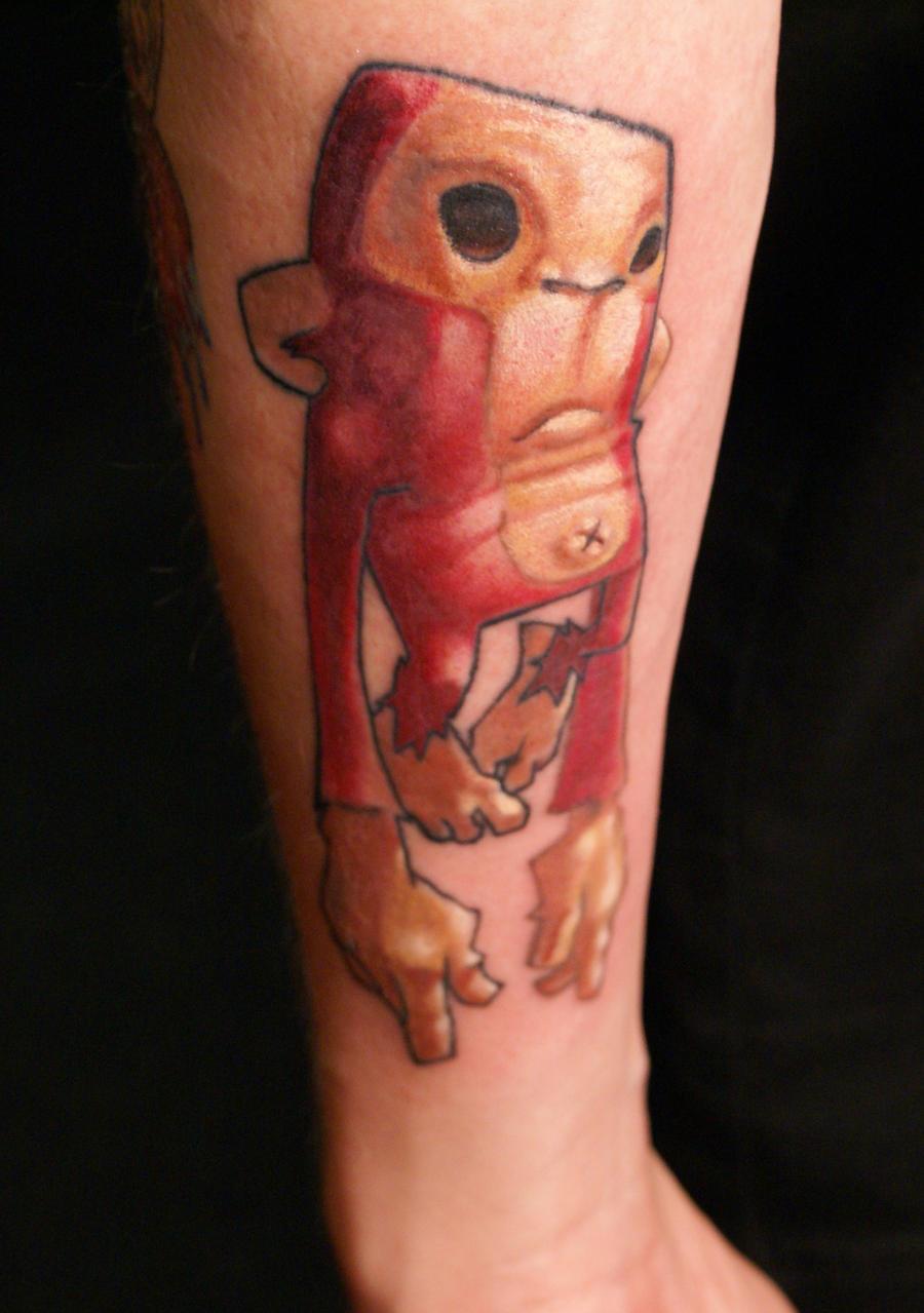 tattoo of a monkey by dv8ordeath