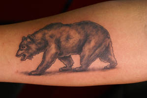 tattoo of the cali bear by dv8ordeath