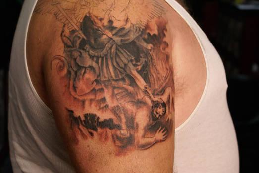 saint micheal tatoo unfinished