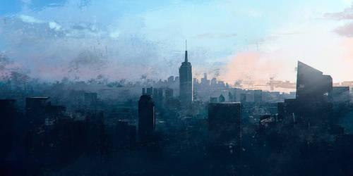 City sketch by michalmarekk
