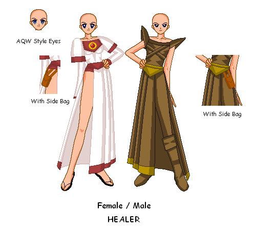 AQ SSMU - Healer (Female x Male) by invertqueen7