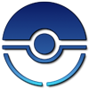 Pokeball Blue Logo by Finalfo