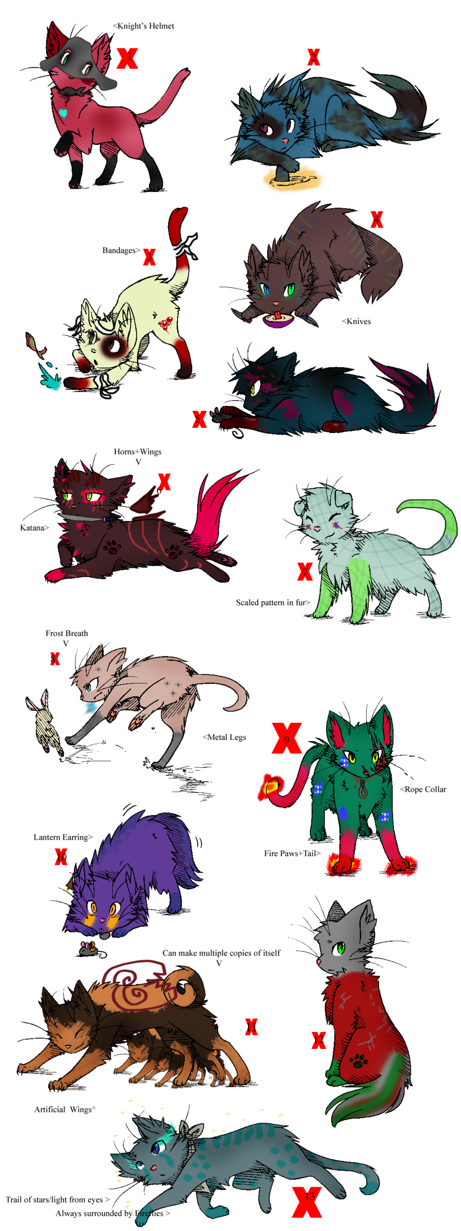 Free Song Combo Adopts - Gone by Feralx1