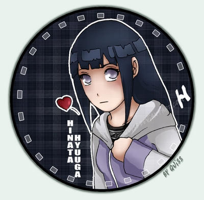 Hinata button by Quiss