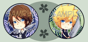 Cloud and Squall buttons