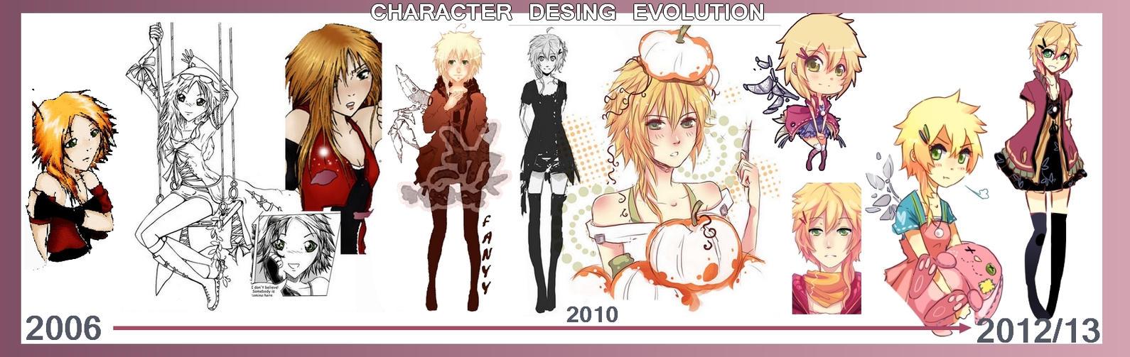 Character Design Evolution : Character design evolution by quiss on deviantart