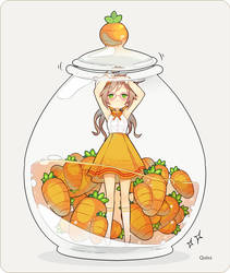 Carrot jar by Quiss