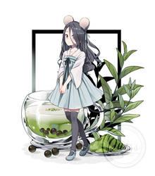 CATnMOUSE Matcha Bubble Tea
