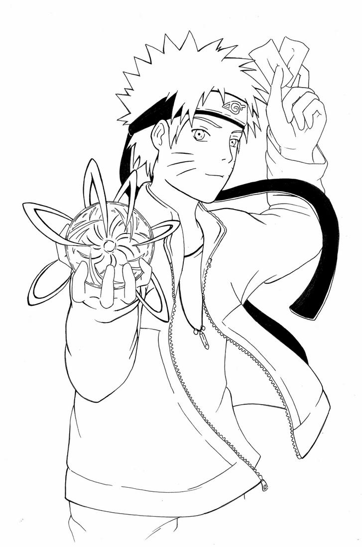 Naruto rasengan lineart by quiss on deviantart for Free naruto coloring pages