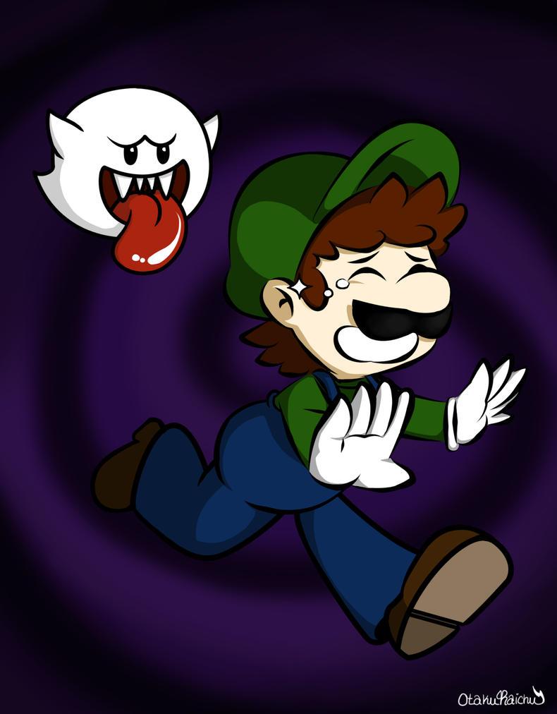Scared Luigi by OtakuRaichu
