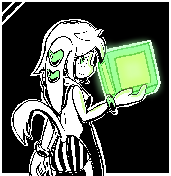 Green Cubes by goshaag