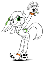 Milla with SGDQ Doll by goshaag