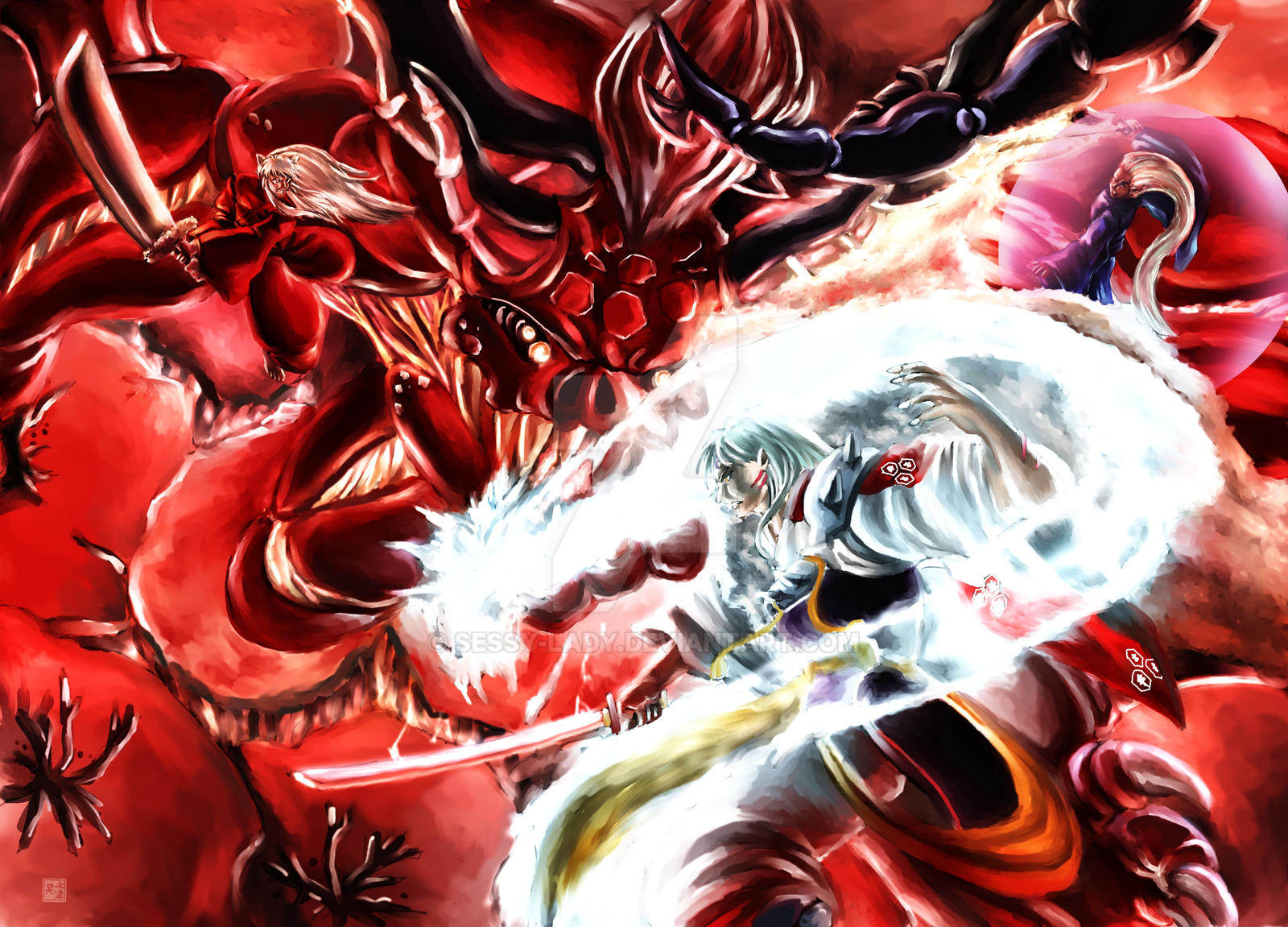 Sesshomaru S Final Battle By Sessy Lady On Deviantart