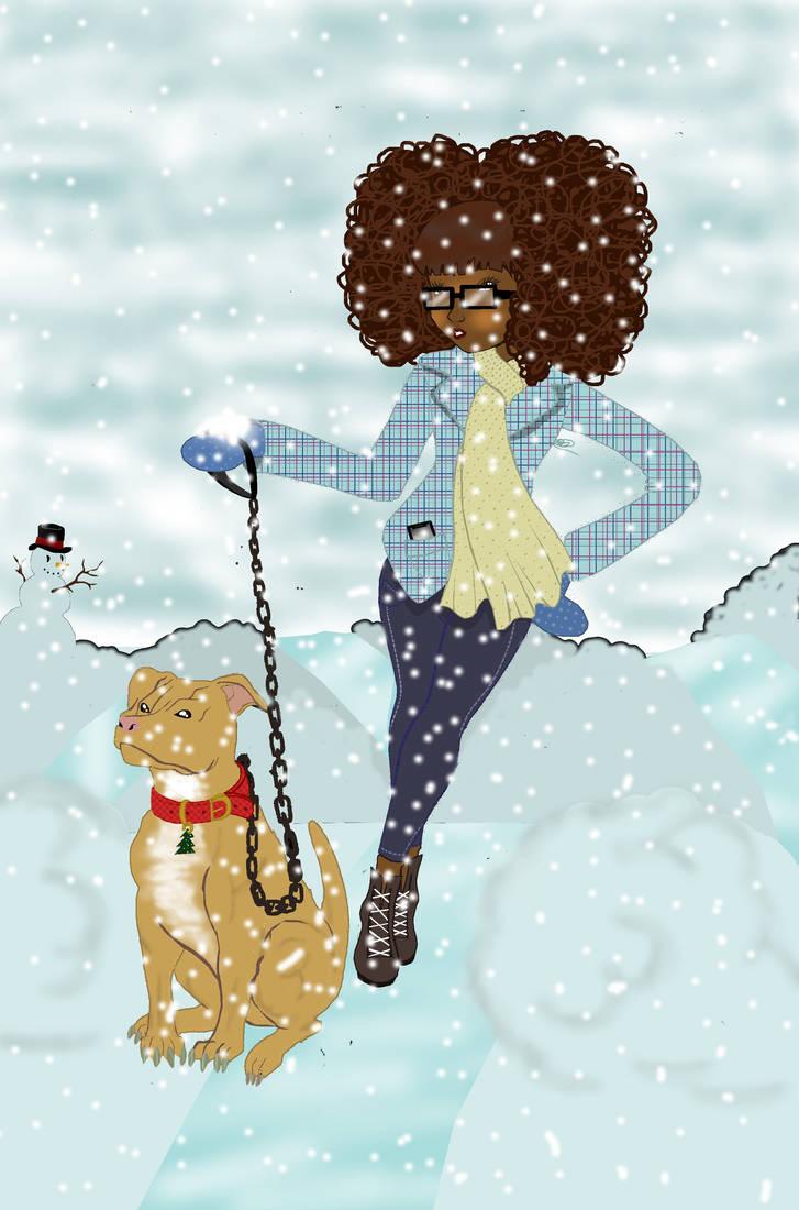 Winter Stroll With Jaz