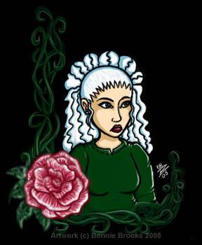 Rose with black BG by SpinHikari