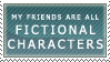 Fictional Characters Stamp by MackenzieTheWolf