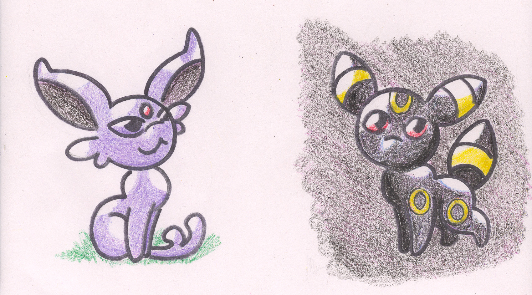 Chibi Espeon and Umbreon by Maddie-the-CattieEspeon And Umbreon Chibi