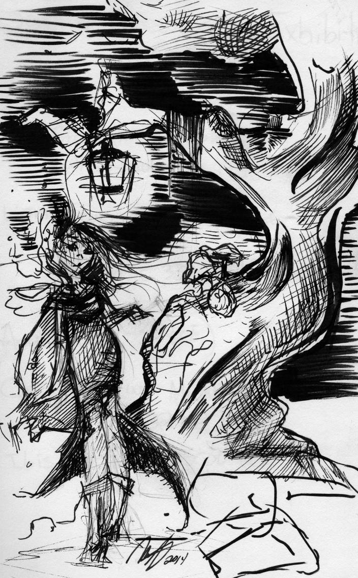 Fantasy Sketch by Maddie-the-Cattie