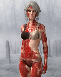 bloody ciri by lacroixchris