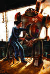 Old Steam-powered Robot
