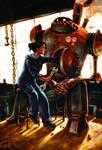 Old Steam-powered Robot
