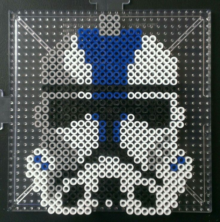 Star Wars Clone Wars Clone Trooper Helmet Perler By