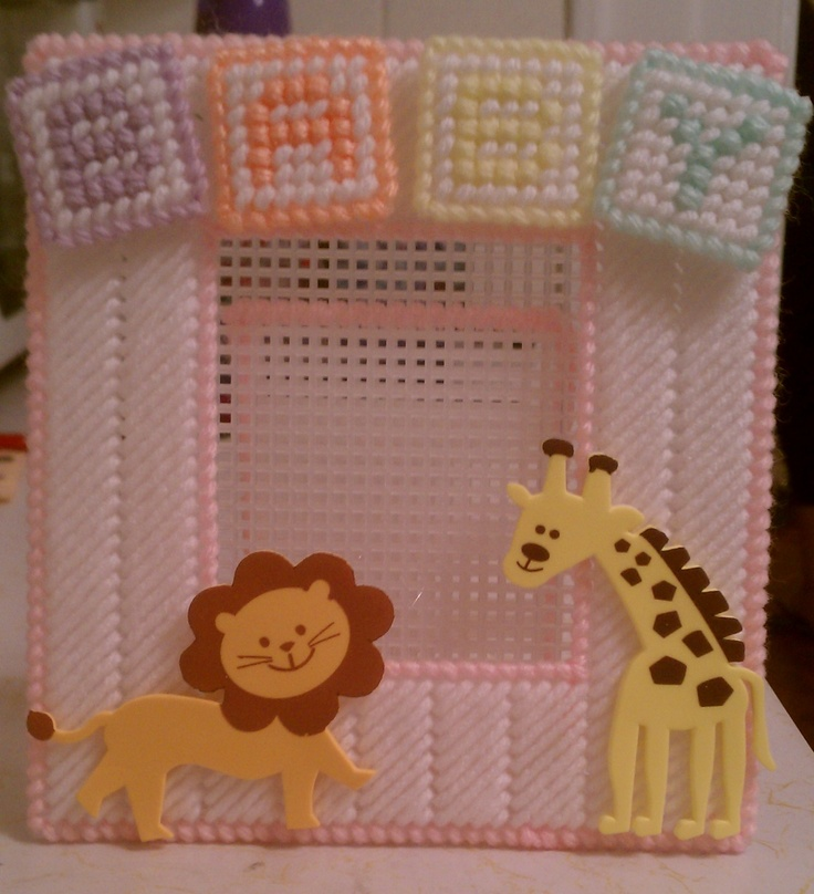 Baby animals picture frame plastic canvas by sanzosgal on DeviantArt