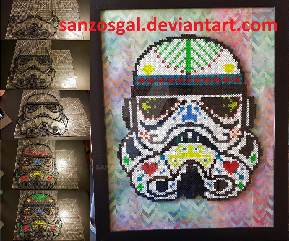 11e6e64e Star Wars Stormtrooper Sugar Skull perler beads by sanzosgal on ...
