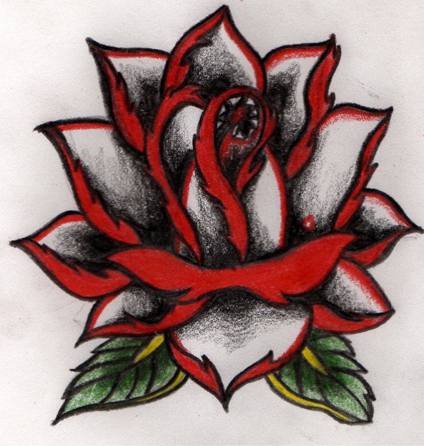 Evil rose lol - shoulder tattoo