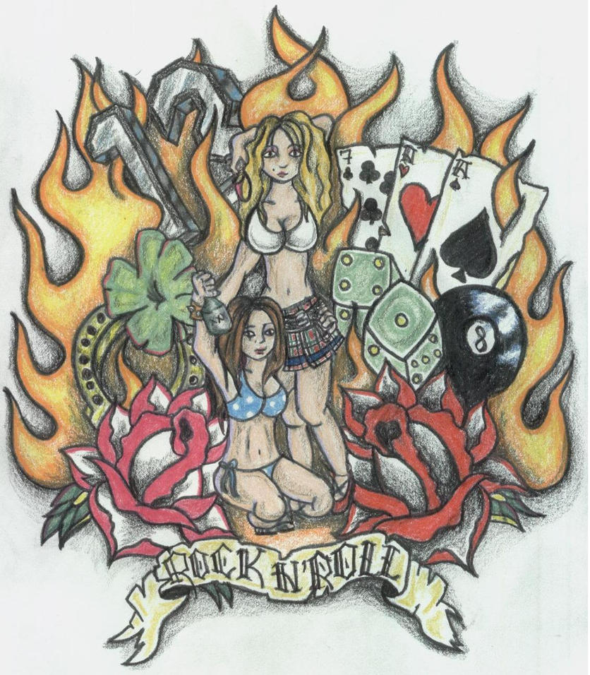 Tattoo Ideas Rock: Rock N Roll By Blaurosenkranz On DeviantArt
