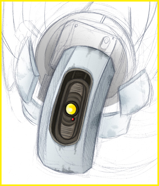Daily Face - GLaDOS by Selkys