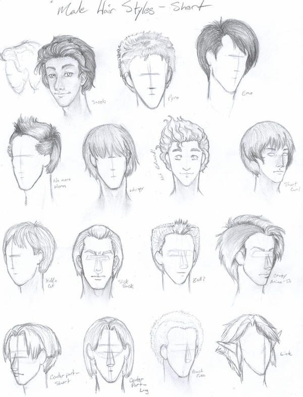 Anime american male hairstyles sketching ~ Hair is our crown