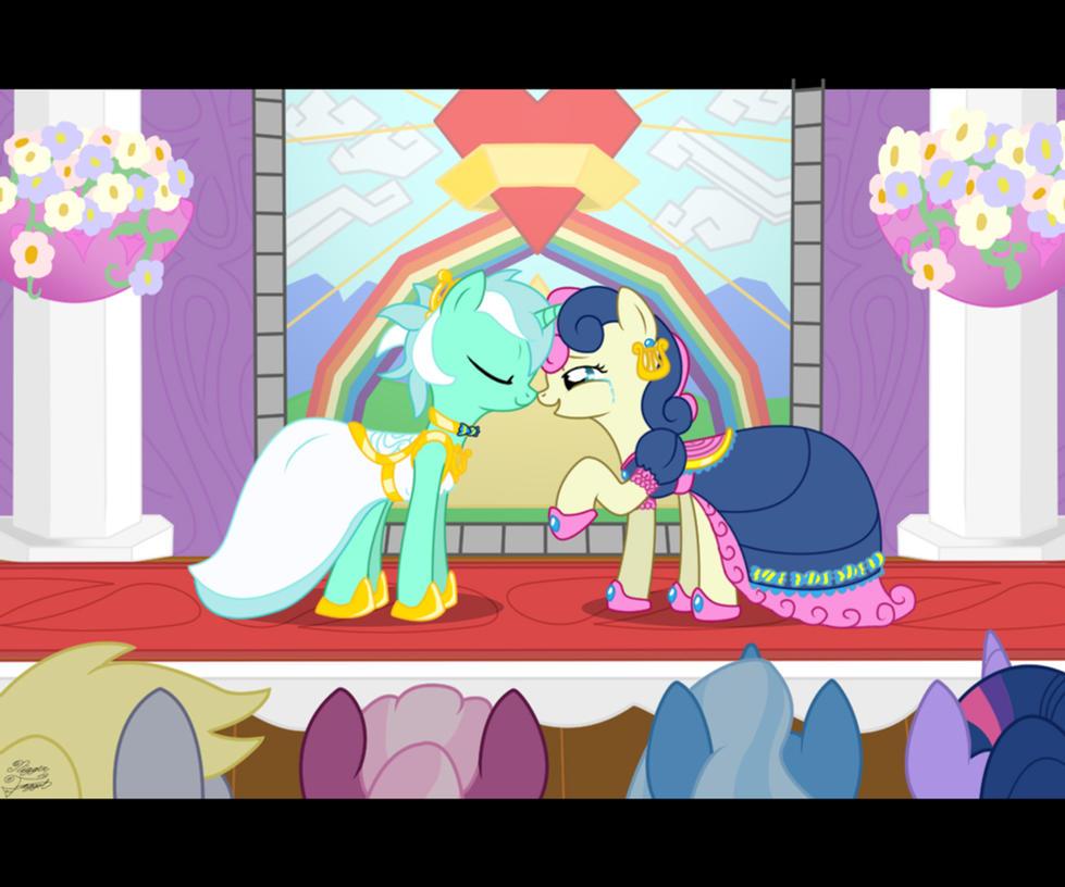 Lyra and Bonbon's Wedding by FacelessJr
