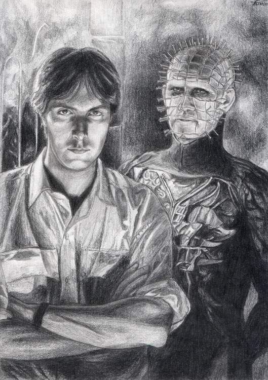 Clive Barker and his creature