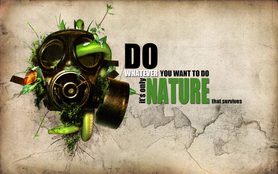 Only nature survives