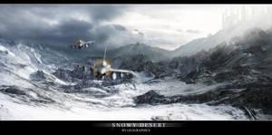 Snowy desert by geograpcics