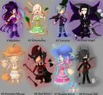 [3/8 OPEN][OTA] Halloween Adopts by ZamaiAdopts