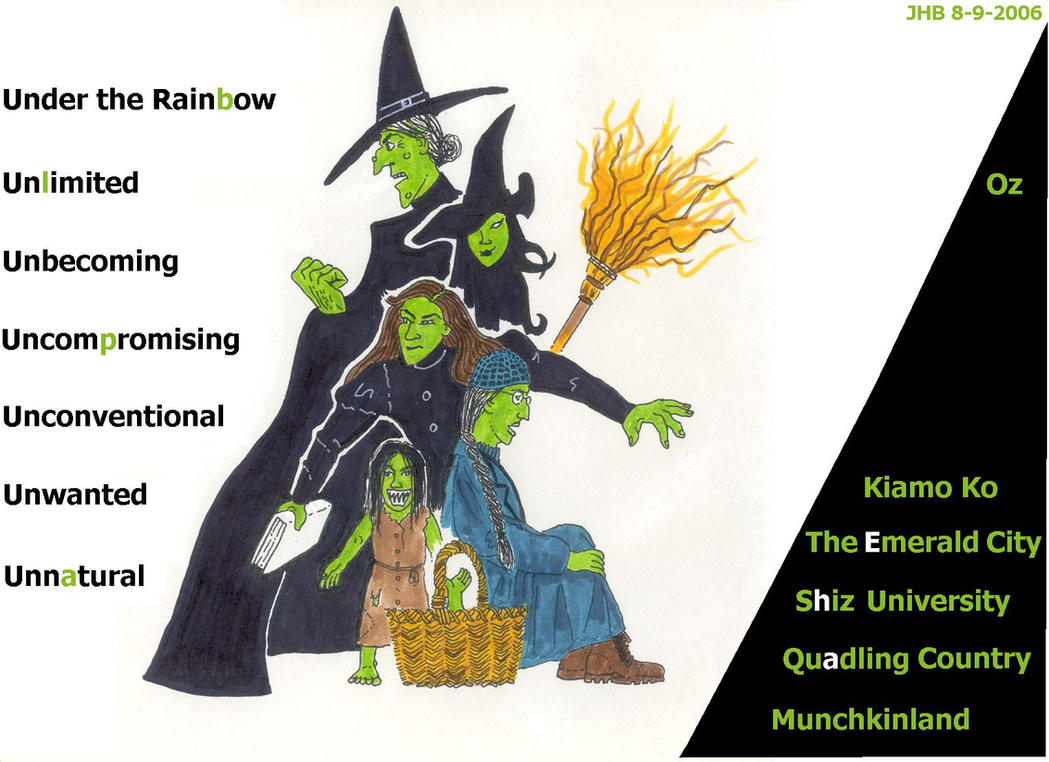 Stages of Elphaba's Life by Puppetcancer