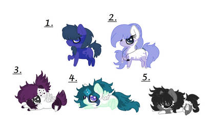 Foal adoptes 1 by PinkMeowgic