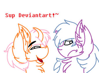 Sup Deviantart!~ (Lined) by PinkMeowgic