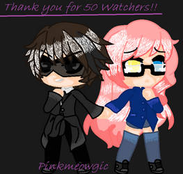 Thank you for 50 watchers!! ^^ by PinkMeowgic