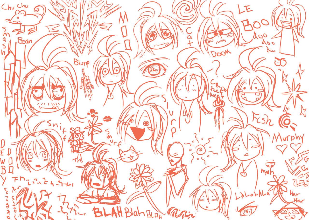 Bladda-bladda sketch dump by WindyRen