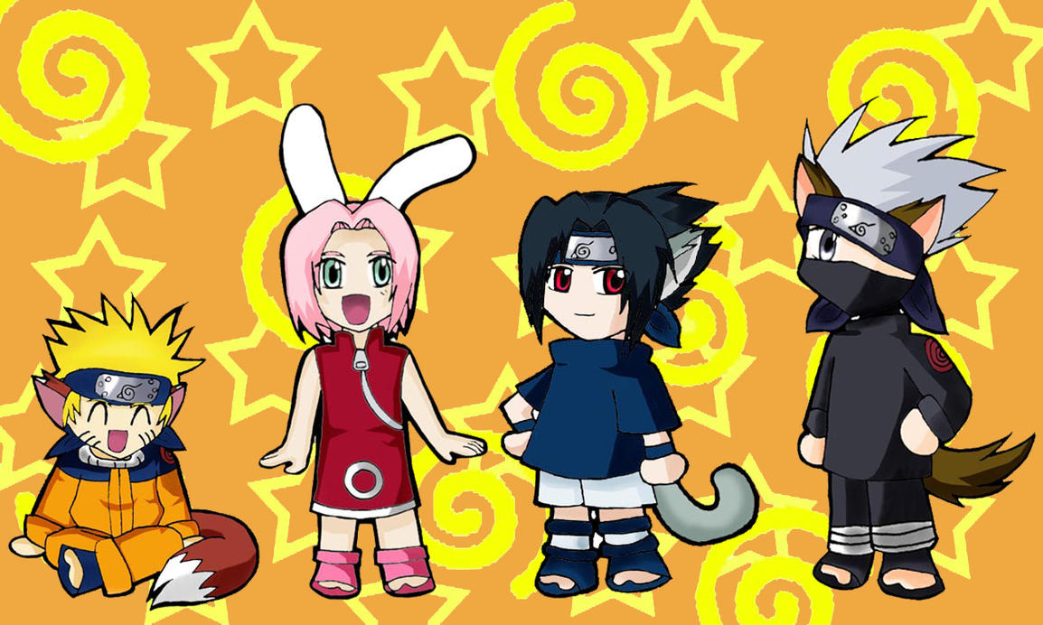 Chibi Naruto group by WindyRen