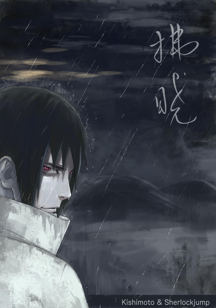 578 Sasuke in the rain by Sherlock2008