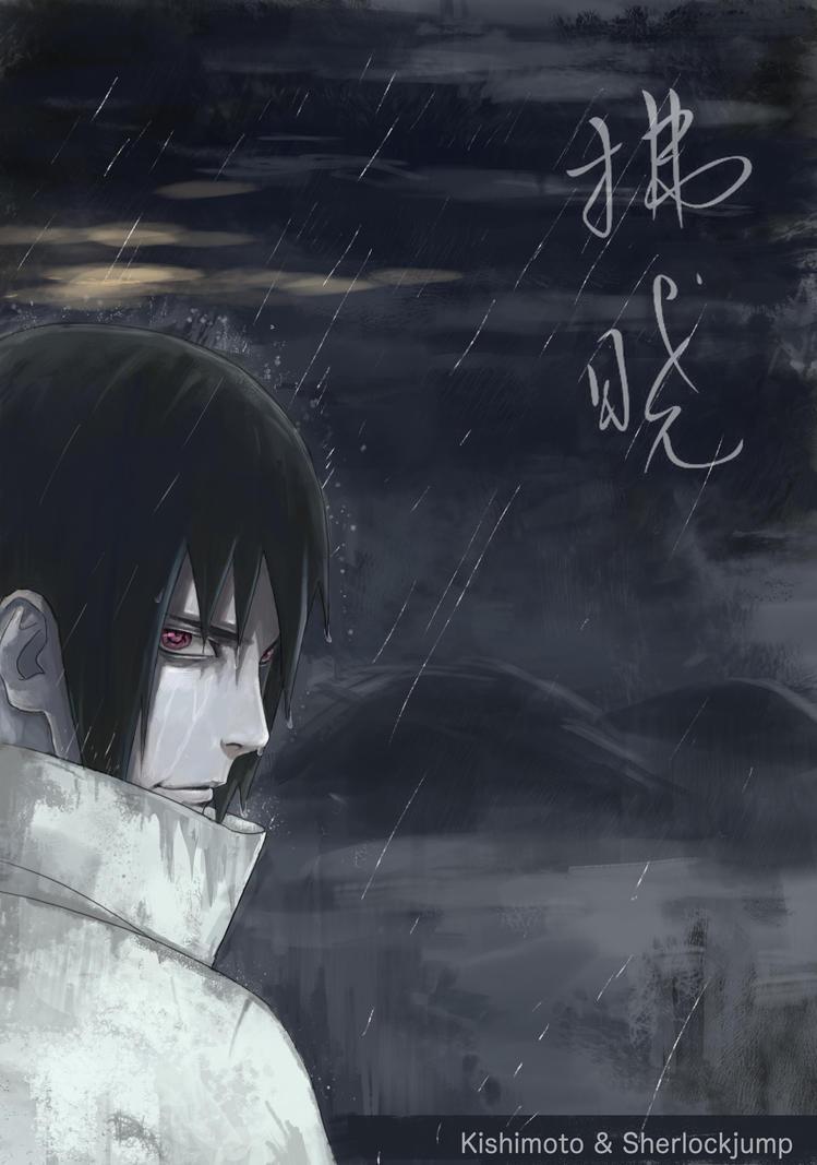 578 Sasuke in the rain by Sherlock2008