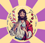 Jesus took two scoops by Madmorumotto
