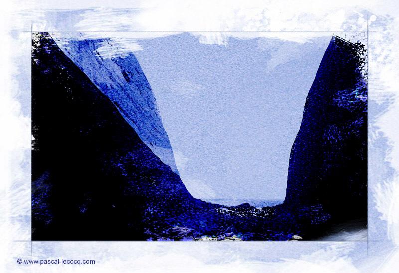 CYANOTYPE KATA TJUTA III - by Pascal by bluepainter357