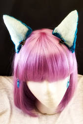 I'm all ears!  Turquoise velvet