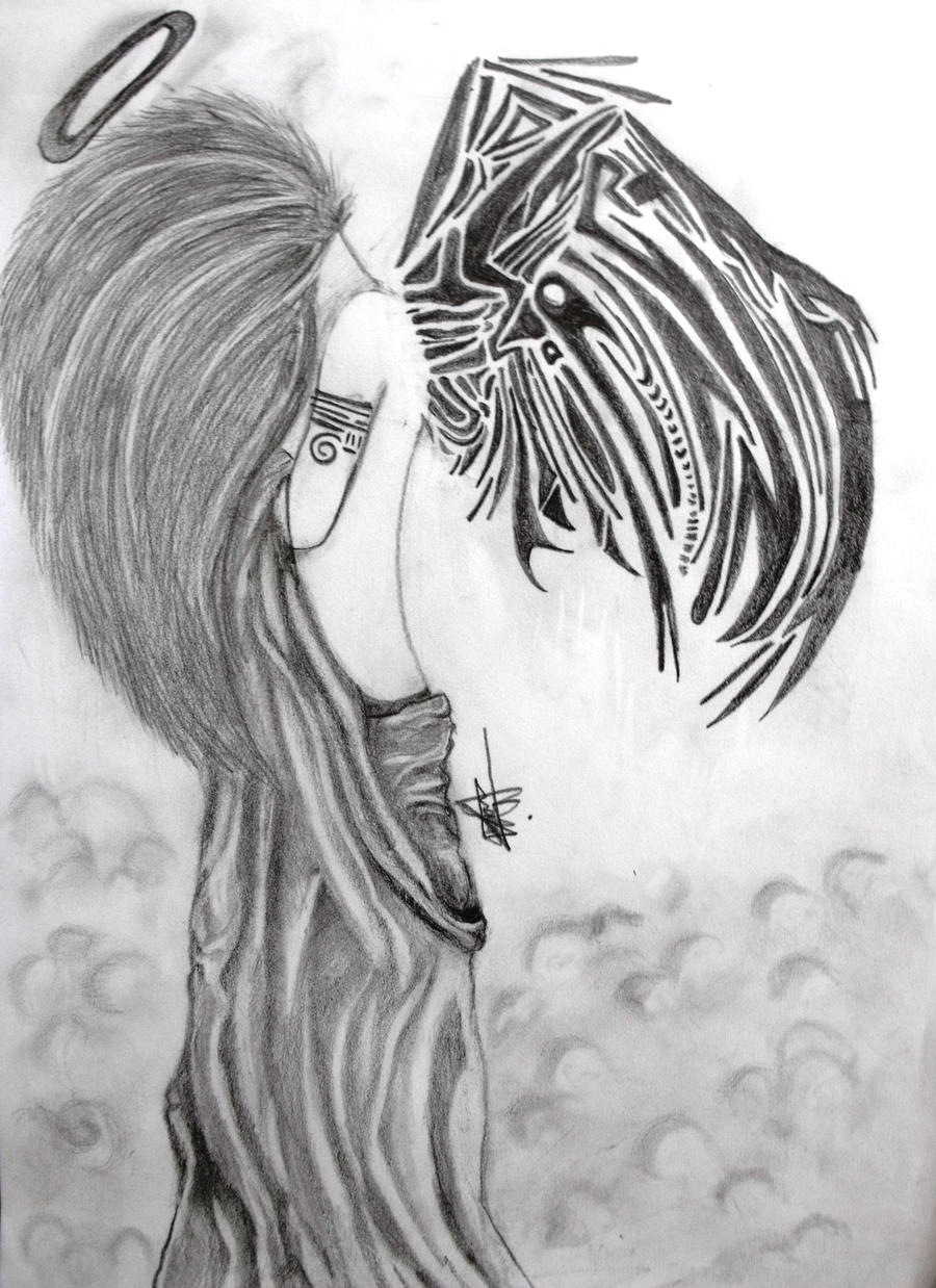 angel designs guardian tattoo tribal Designs Angels Pin Tattoo Guardian Angelsguardian Tribal Angel On
