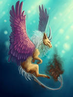 Griffin Creature by wookieinmashoo